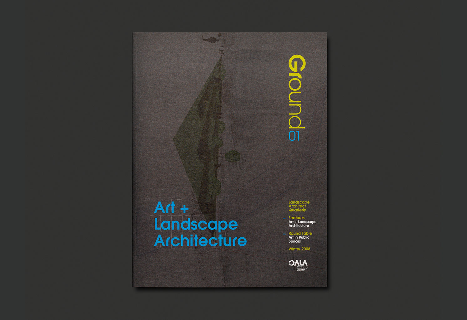 Ground magazine typotherapy for Society of landscape architects