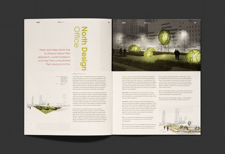 Ground magazine typotherapy for Association of landscape architects